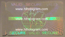 security transparent hologram ID overlay